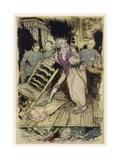 Tell Tale Heart Gicléetryck av Arthur Rackham
