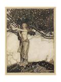 Freia, Rackham Premium Giclee Print by Arthur Rackham