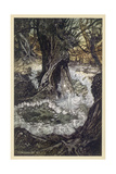 Dancing in Wood Giclee Print by Arthur Rackham