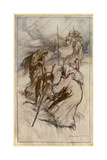 Macbeth Meets Witches Giclee Print by Arthur Rackham