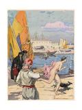 Casanova, Leroux, Bonafede Giclee Print by Auguste Leroux