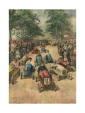 Pedal Car Race, Bologna Giclee Print by Achille Beltrame