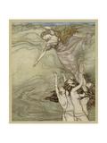 Drowning Girl Giclee Print by Arthur Rackham