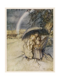 Rain, Go to Spain Giclee Print by Arthur Rackham