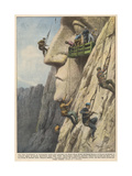 Mount Rushmore Carved Up Giclee Print by Achille Beltrame