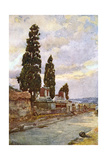 Street of Tombs -Pompeii Giclee Print by Alberto Pisa