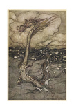 Sea Dragon Gicléetryck av Arthur Rackham