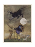Hey Diddle Diddle Giclee Print by Arthur Rackham