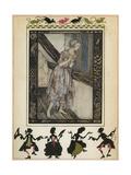 Askungen Gicléetryck av Arthur Rackham