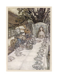 Alice: Mad Tea Party Premium Giclee Print by Arthur Rackham