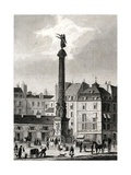 Paris, France - Place Du Chatelet Premium Giclee Print by B. Winkles