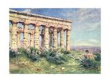 Sicily, Segesta 1911 Giclee Print by Alberto Pisa