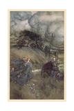 Oberon and Titania Giclee Print by Arthur Rackham