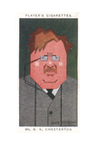 G K Chesterton - English Writer Giclee Print by Alick P.f. Ritchie