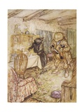 Willows, Rat and Beer Giclee Print by Arthur Rackham