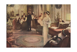 Social, Singing at Party Giclee Print by Albert Guillaume
