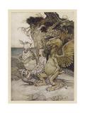 Alice, Mock-Turtle, Grypho Giclee Print by Arthur Rackham