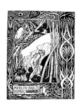 Merlin and Nimue Premium Giclee Print by Aubrey Beardsley