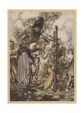 Freia Is Ransomed Giclee Print by Arthur Rackham