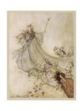 Shakespeare; Titania Giclee Print by Arthur Rackham