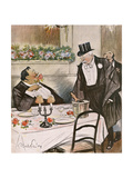 Replete Diners 1904 Giclee Print by Abel Faivre