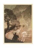 Wotan at the Pyre Giclee Print by Arthur Rackham