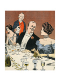 Champagne and Dessert Giclee Print by Axel Thiess