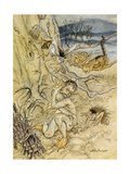 Tempest, Rackham, Act2Sce2 Giclee Print by Arthur Rackham