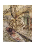 Wind in Willows, Grahame Giclee Print by Arthur Rackham