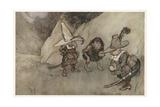 Irving, Rip Van Winkle Giclee Print by Arthur Rackham