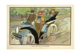 A Happy Party of Little Motorists Giclee Print by Charles Robinson