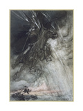 Odin, Wotan Rides, Rackham Premium Giclee Print by Arthur Rackham