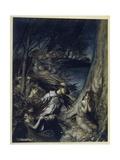The Fairy Wife Gicléetryck av Arthur Rackham