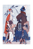 Two Women in Fashionable Clothing Giclee Print by Armand Vallee