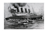 WW1 - Sinking of 'Lusitania', May 7th, 1915 Giclee Print by Charles J. De Lacy
