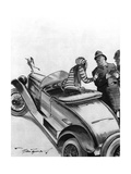 Pulled over for Speeding. Premium Giclee Print by Bert Thomas
