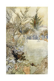 Garden, Loki Winter 1914 Giclee Print by Charles Robinson