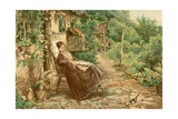 Convalescing Woman 19C Giclee Print by Birket Foster