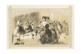 Serving Goose at Banquet Giclee Print by Birket Foster