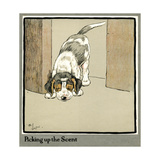Forager the Puppy Picks Up a Scent Giclee Print by Cecil Aldin