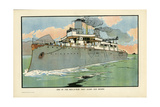 Naval Steamship Giclee Print by Charles Robinson