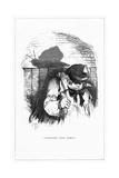 Shadow Drawing. C.H. Bennett, Snail Giclee Print by Charles H Bennett