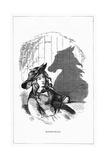 Shadow Drawing. C.H. Bennett, Equestrian Giclee Print by Charles H Bennett