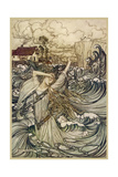 A Water Spirit Giclee Print by Arthur Rackham