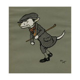 Rags the Dog Wearing Fancy Dress Giclee Print by Cecil Aldin