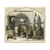 Churchgoing at Xmas Giclee Print by Birket Foster