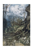Green Dragon Giclee Print by Arthur Rackham