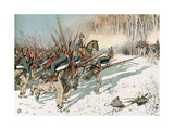 Battle of Eylau Giclee Print by Carl Rochling
