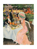 Outdoor Restaurant 1909 Giclee Print