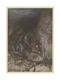 Dragon Fafner Giclee Print by Arthur Rackham